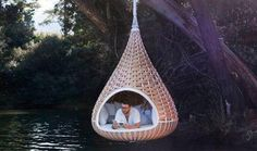 Suspended Coccoon for reading, drifting and sleeping...it's on my wishlist!