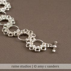 Shenandoah Chainmaille Bracelet Handmade Sterling by rainestudios