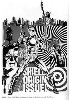 Jim Steranko's Nick Fury introduced psychedelic art into main stream comics with a stye that looks almost computer made.