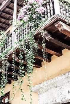 Spanish colonial house. Cartagena de Indias, Colombia's Caribbean Zone