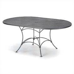 Woodard Mesh Top Set-Up Oval Dining Table Finish: Twilight