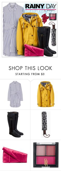 """Splish Splash: Rainy Day Style"" by trendsbybren ❤ liked on Polyvore featuring T By Alexander Wang, Joules, Burberry, Madewell, Diane Von Furstenberg, Black Radiance and Obsessive Compulsive Cosmetics"