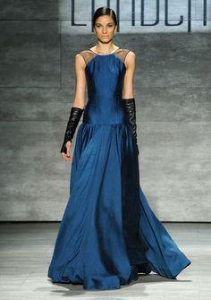 Hernan Lander's vibrant sapphire creation would be amazing on Jennifer Lawrence