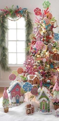 North pole themed Christmas tree.                                                                                                                                                     More