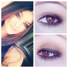 Kylie Jenner makeup for brown eyes