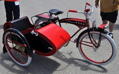 bike with sidecar | bicycle with a sidecar? I don't remember ever seeing one before, but ...