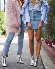 Metallic Boots, Silver Boots, Fashion 2018, Latest Fashion Trends, Womens Fashion, Denim Fashion, Fashion Tips, Winter Boots Outfits, Winter Shoes
