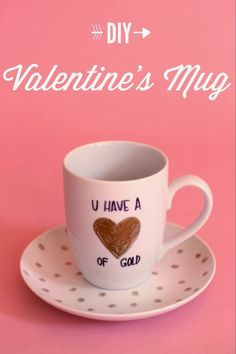 Linen, Lace, & Love: DIY Valentine's Mug #valentine #crafts #diy