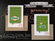 Life in the Forest + a giveaway - aww | Jane Lee http://janeleescards.blogspot.com