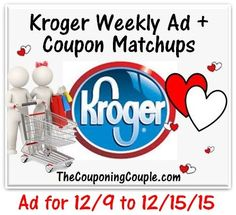 Here is the NEW Kroger Ad for 12-9 to 12-15-15 with Coupon Matchups  Click the link below to get all of the details ► http://www.thecouponingcouple.com/kroger-ad-for-12-9-to-12-15-15/  #Coupons #Couponing #CouponCommunity  Visit us at http://www.thecouponingcouple.com for more great posts!