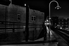End of boardwalk   The L at Damen in noir @ neverphoto.com