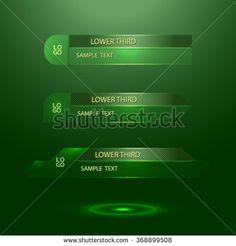 green glass lower third - vector illustration