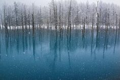 Blue Pond-The Snowfall in May by Kent Shiraishi on 500px