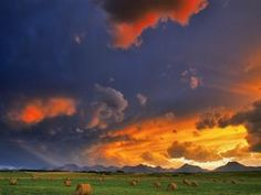 Proshots - Hay Bales at Sunset, Alberta - Professional Photos from Webshots