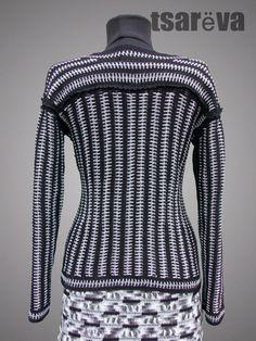 Multicolor Organic Cotton Crochet Sweater Jacket