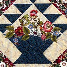 flower basket quilt pattern | Lucille Laplume then took over to do her expert hand quilting and ...