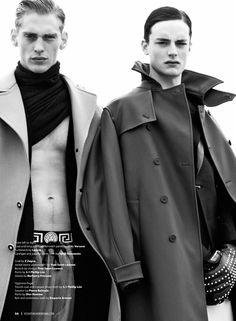 Jeremy Dufour & Thomas Bukovatz Don Coats of the Season for Essential Homme