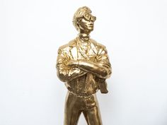 Andy Warhol Sculpture in Gold Resin Sculpture, Andy Warhol, Pop Art, Van, African, Statue, Artwork, Artist, Gold