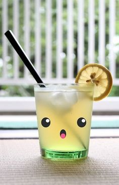 Kawaii lemonade #beverage #kawaii