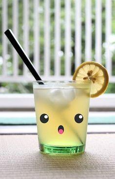 Kawaii lemonade #beverage #cute