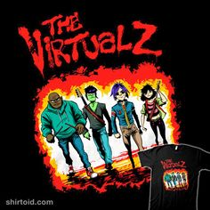 The Virtualz | Shirtoid #film #gorillaz #movies #music #thewarriors #zascanauta