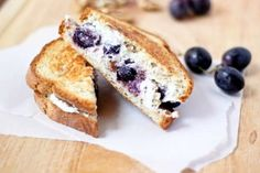Grilled Goat Cheese Sandwich with Honey-Roasted Grapes and Walnuts from @Cassie | Bake Your Day