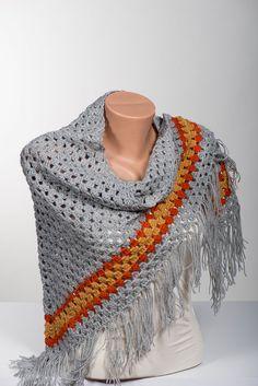 Crochet big scarf and shawl. Bohemian crochet by scarfstore2012