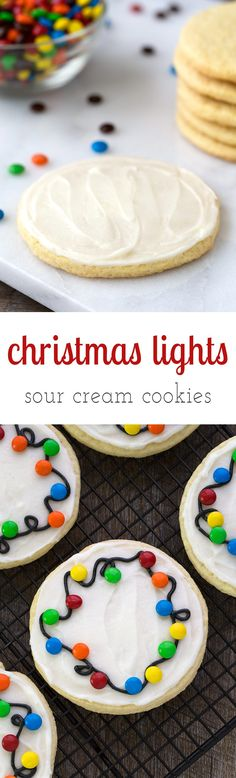 Guaranteed to please kids of all ages, Christmas Lights Cookies are an easy and fun cookie to make for holiday gatherings. Perfect for cookie exchanges!