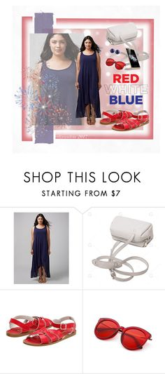 """""""Red, White & Blue : Celebrate my Style~"""" by relixandria ❤ liked on Polyvore featuring Lane Bryant, Salt Water Sandals, Effy Jewelry, simple, Beauty, celebration and fourthofjuly"""