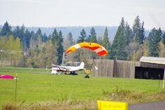 Skydive Jumper Landing Molalla Oregon March 19,2016
