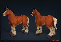 Blunderbuss: Generic Horse, John Gotch on ArtStation at https://www.artstation.com/artwork/blunderbuss-generic-horse