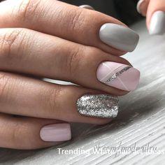 Маникюр nails ногти unghie grigie, unghie idee и unghie gel. Shellac Nail Designs, White Nail Designs, Nail Polish Trends, Best Nail Art Designs, Short Nail Designs, Shellac Nails, Nails Design, Gel Polish, Pedicure Designs