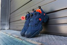 Reebok Instapump Fury Tech Navy/Solar Orange