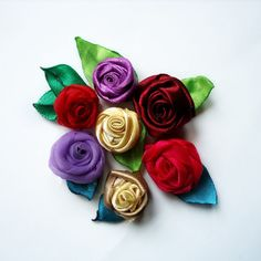 Rolled Ribbon Rose | FaveCrafts.com