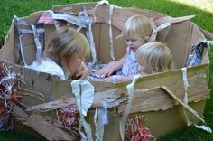 great idea for outdoor play. Make a Bird Nest using Recycled Materials | Wildlife fun