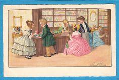 Pauli Ebner: Victorian Children in Perfume Shop - Crinolines