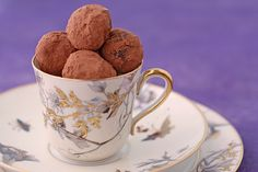 Earl Grey lavender chocolate truffles