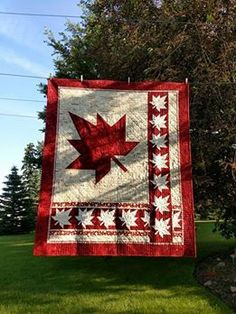 Canuck Quilter Quilting Projects, Quilting Designs, Sewing Projects, Quilting Ideas, Flag Quilt, Quilt Blocks, Canadian Quilts, Quilts Canada, Quilt Of Valor