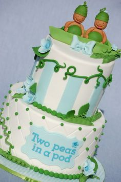 LOVE this cake for a baby shower for twins