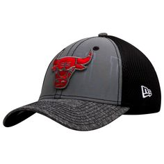 2775186b332 Chicago Bulls Grey and Black Primary and Partial Text Logo Flex Fit Hat by New  Era