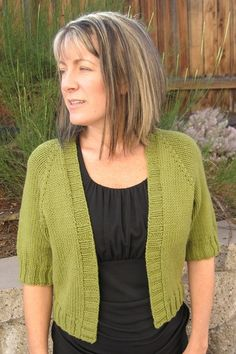 Knitting Pure and Simple--Diane Soucy--Summer Open Cardigan (Top Down)
