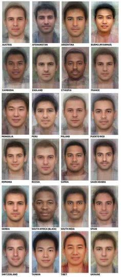 average faces from around the world