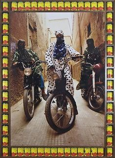 Hassan Hajjaj photographs Moroccan biker women in his debut New York exhibition 'Kesh Angels' on display at the Taymour Grahne Gallery through March Marrakech, Pop Art, Andy Warhol, Girl Motorcyclist, Debut Photoshoot, Street Culture, Lady Biker, Weird And Wonderful, North Africa
