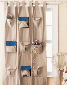 Functional Curtains with storage for low-space areas