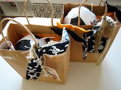 Pirate party loot bags