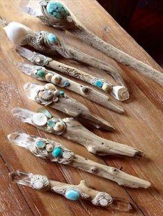 Driftwood wands