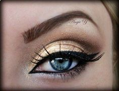 Golden Eye Makeup Look