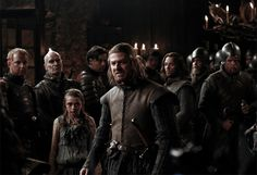 Game of Thrones (series 2011 - ) Starring: Maisie Williams as Arya Stark and Sean Bean as Eddard Stark. Ned Stark, Eddard Stark, Game Of Thrones Saison, Game Of Thrones Episodes, Game Of Thrones Fans, George Rr Martin, Film D'animation, Film Serie, Music Film