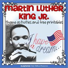Martin Luther King Jr. theme activities and printables for preschool and kindergarten - KIDSPARKZ