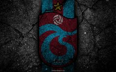 Download wallpapers Trabzonspor, logo, art, Super Lig, soccer, football club, grunge, Trabzonspor FC